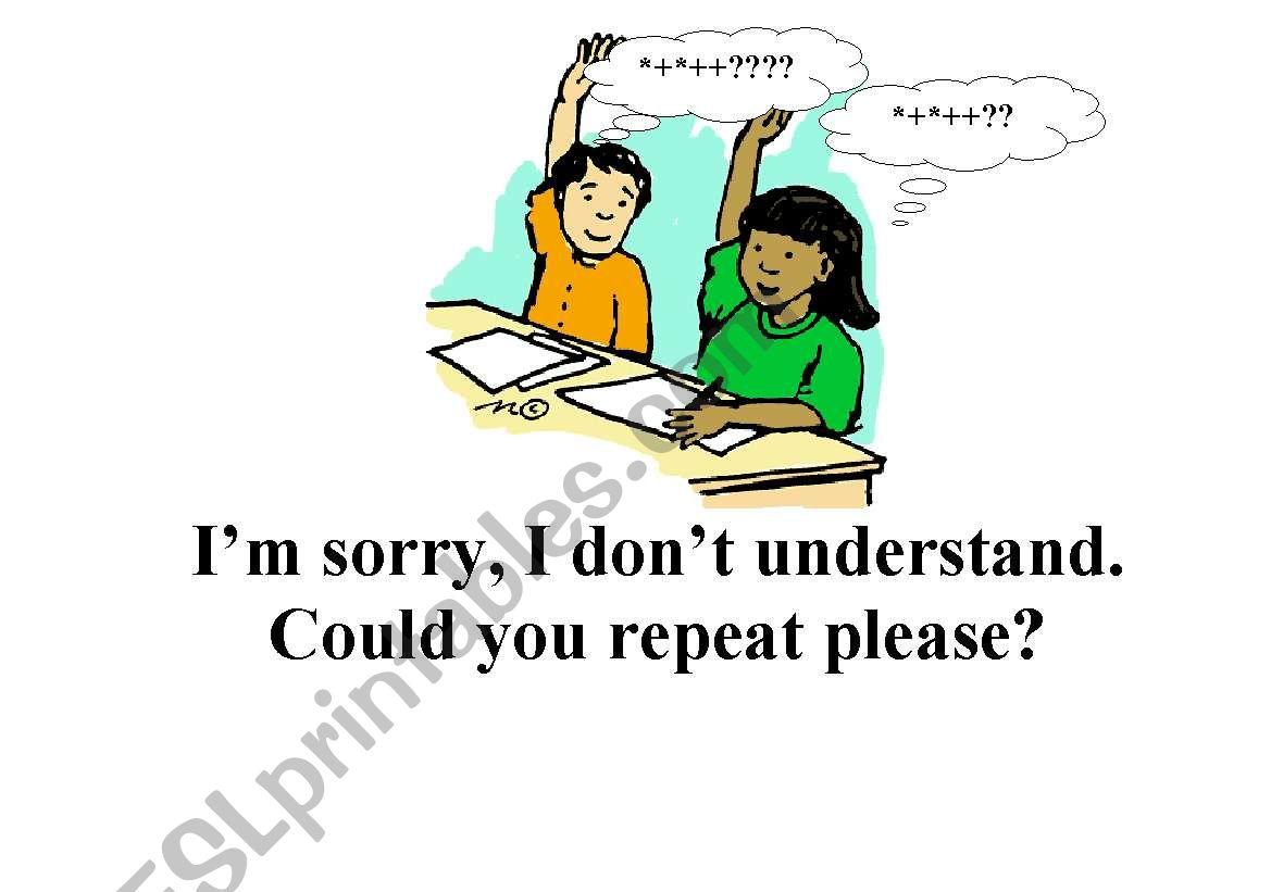 Classroom Language Flashcards