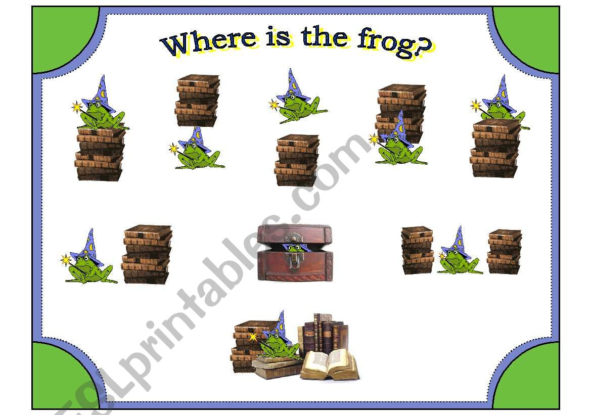 Frog Wizard Posters With Preposition Cards To Match 20