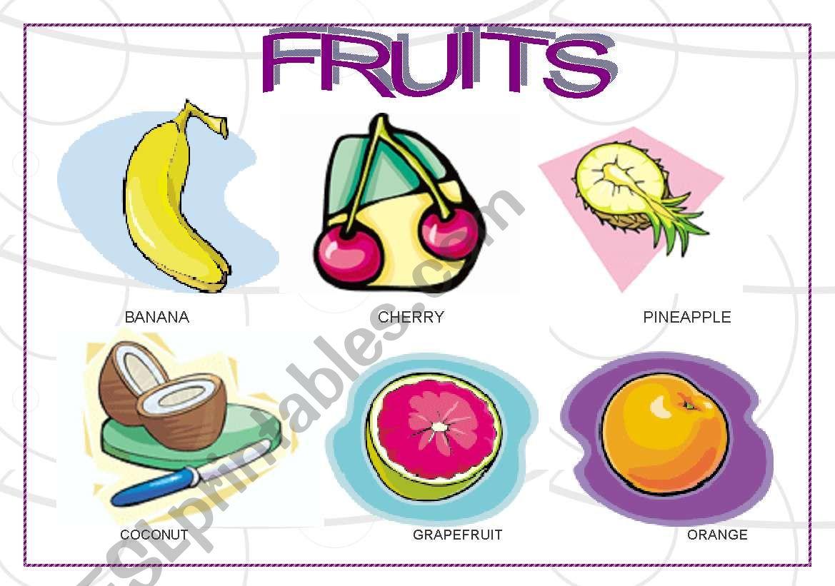 Fruits Falsh Cards