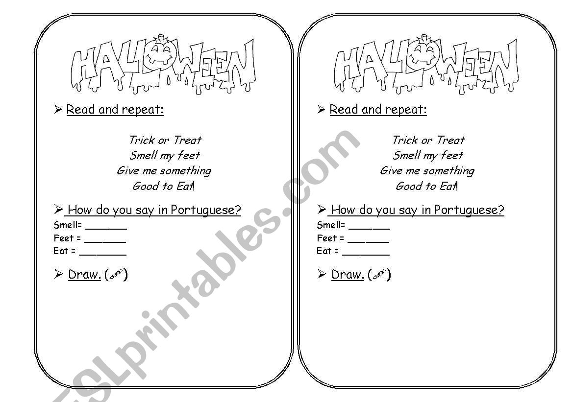 Halloween Vowel Worksheet
