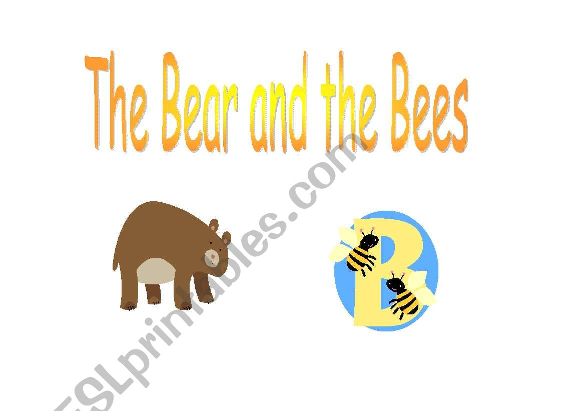 English Worksheets The Bear And The Bees