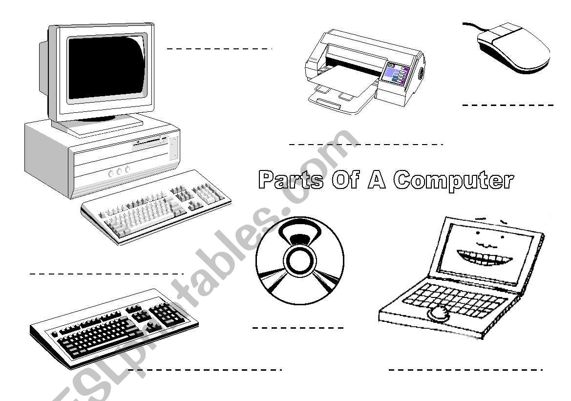 Label The Computer Items