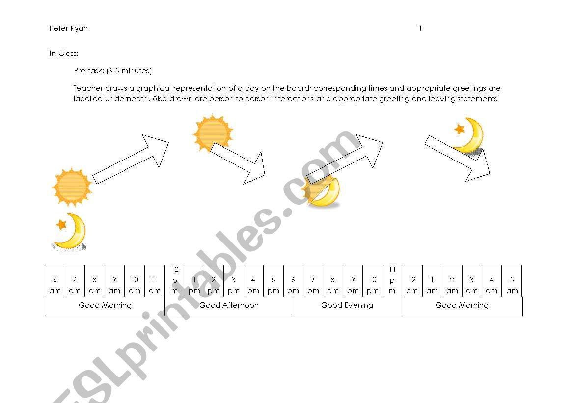 English Worksheets Greetings