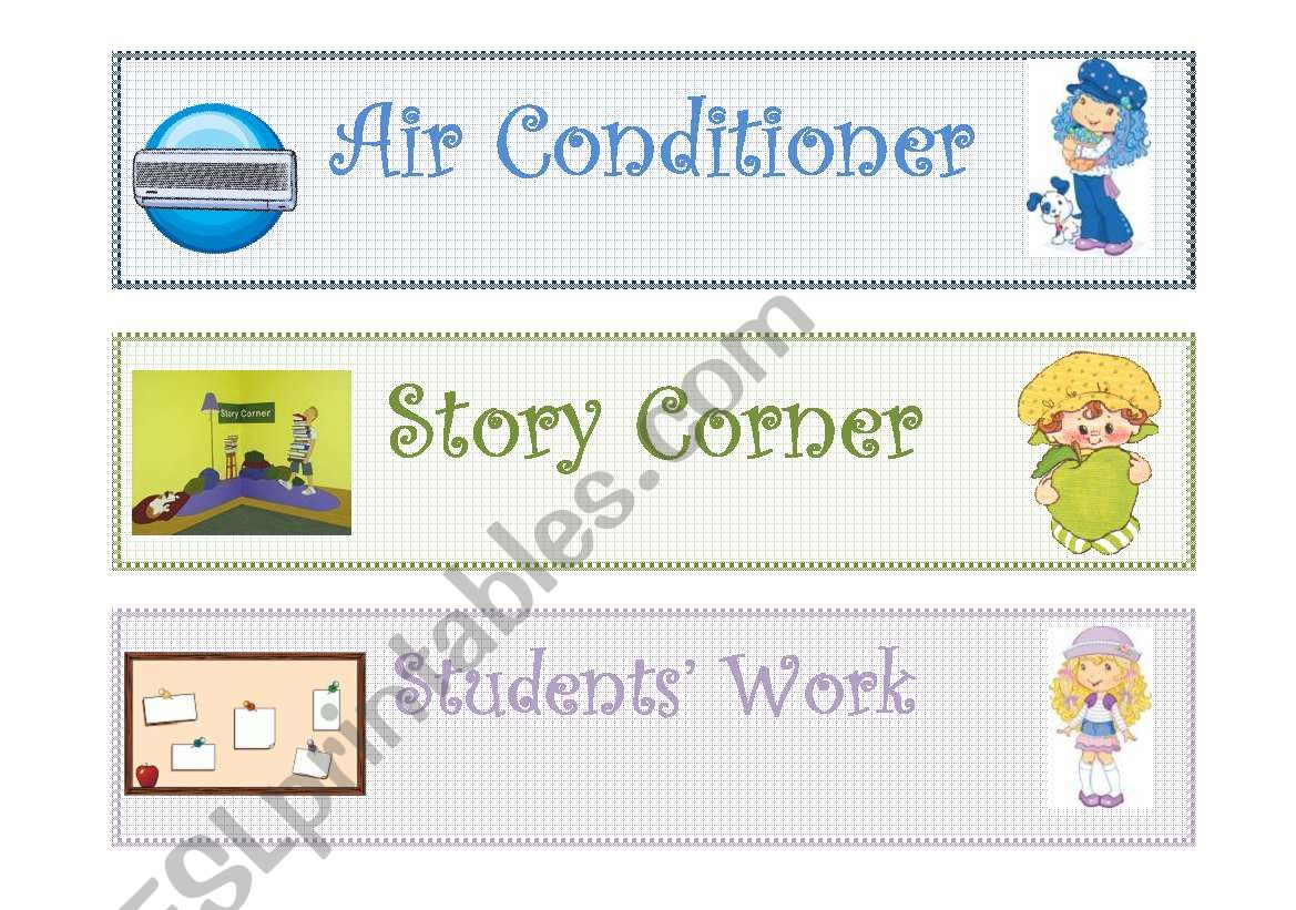 Classroom Labels Classroom Objects 2 2