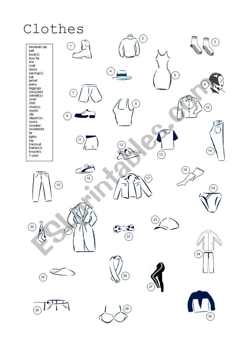 Image Result For Clothes Worksheets Listening