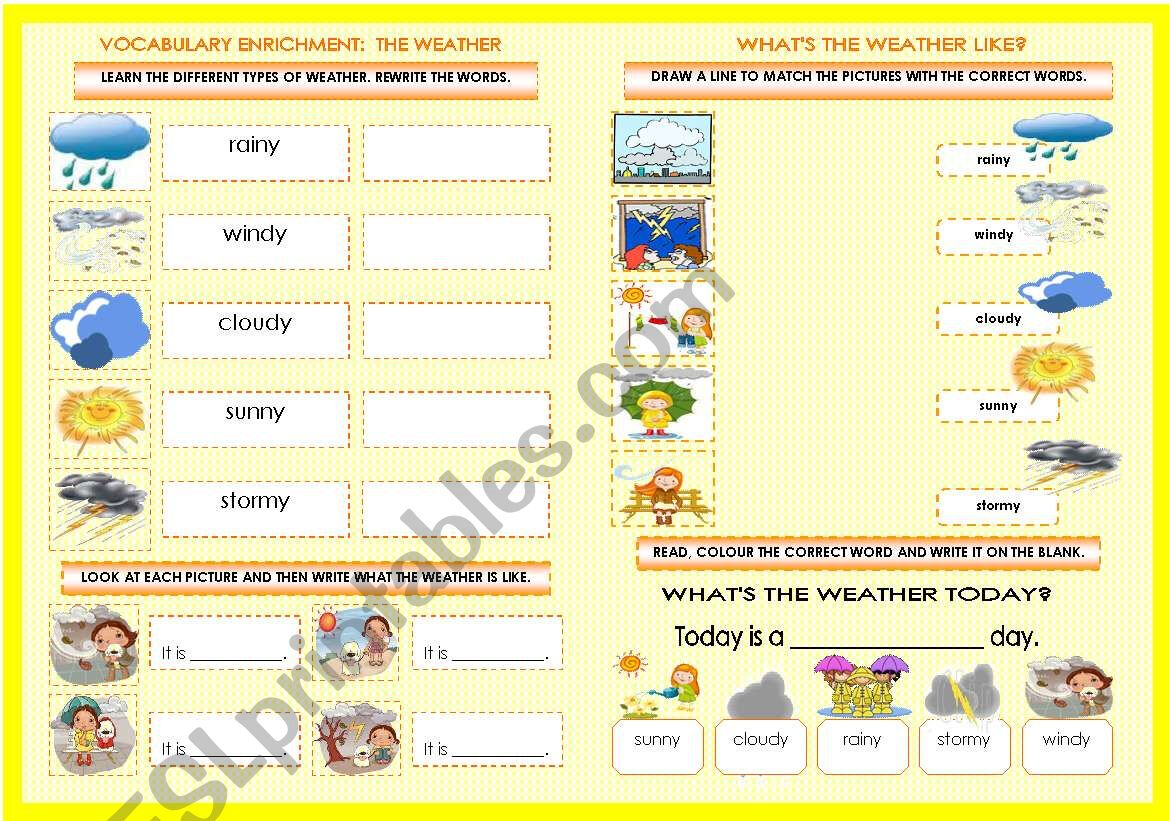 Vocabulary Enrichment The Weather