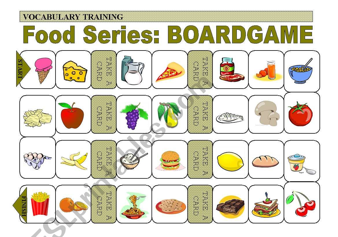 Practice Of Food Vocabulary Boardgame 3 Of 4