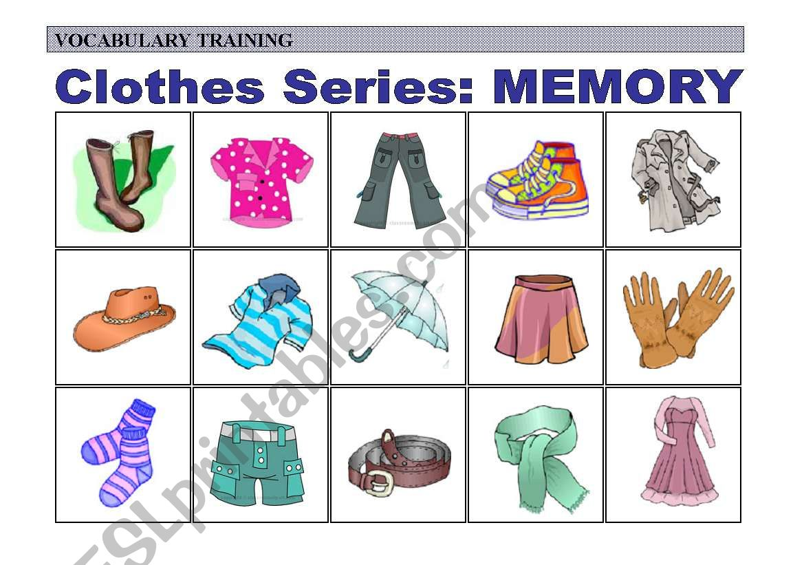Practice Of Clothes Vocabulary Memory 3 Of 4