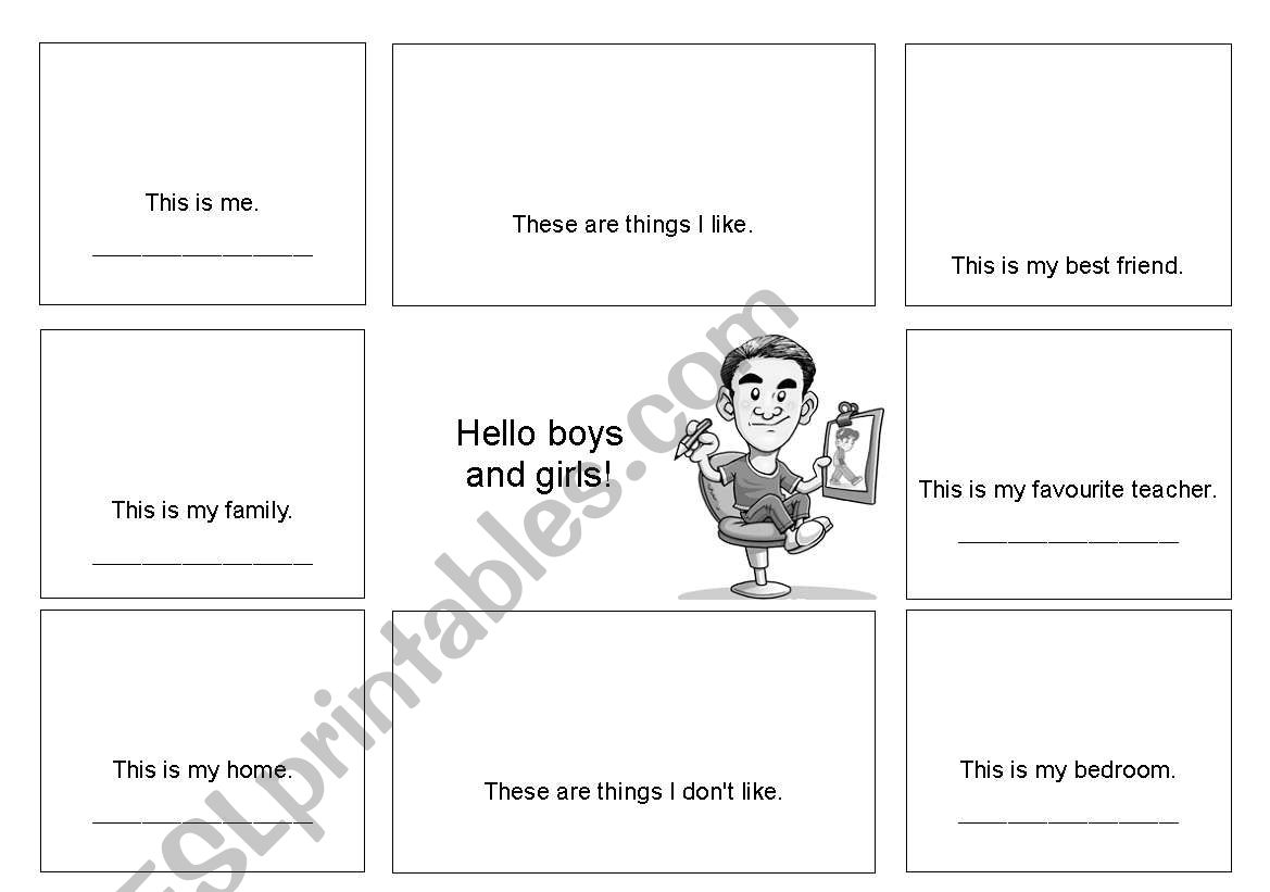 English Worksheets All About Me And My Life Elementary