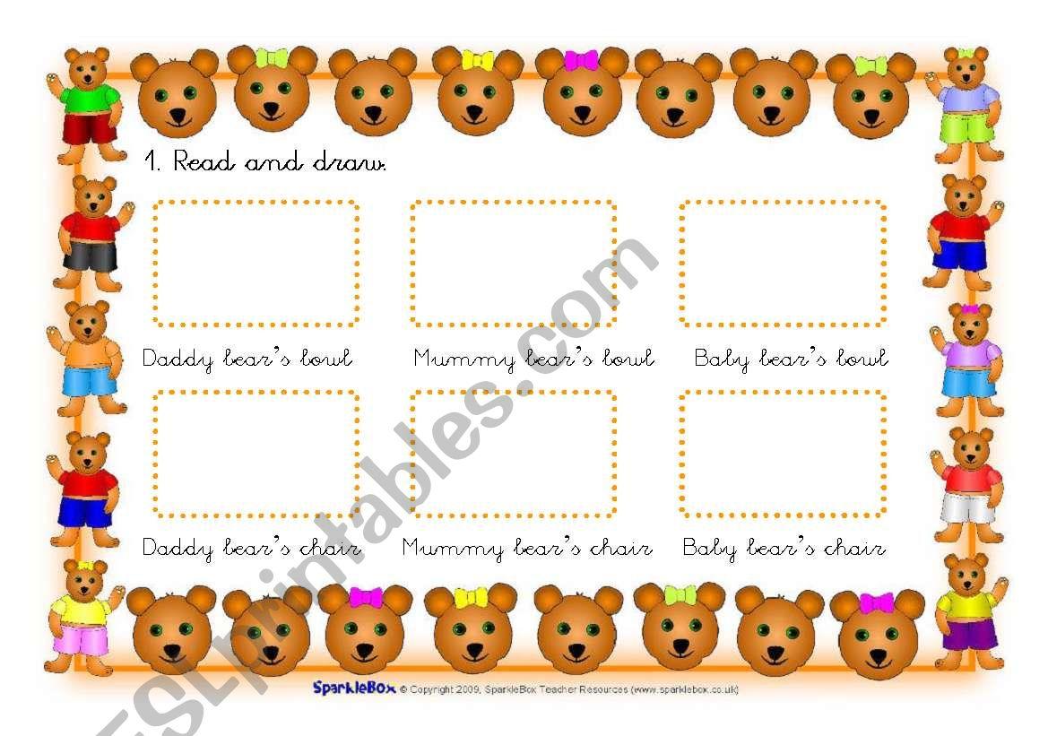 Goldilocks Worksheets