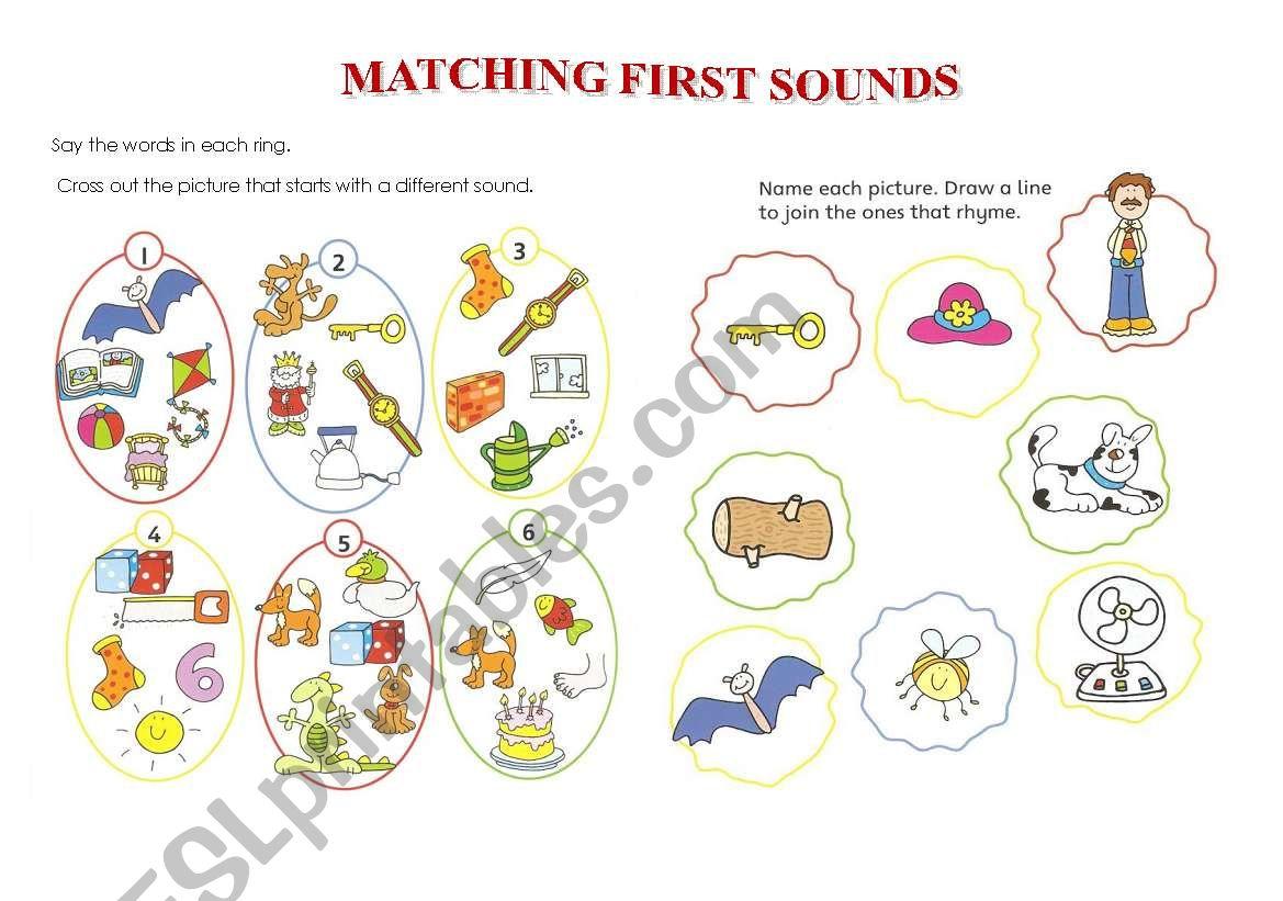 Matching First Sounds