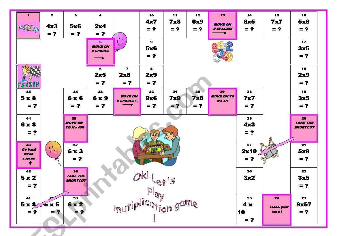 Multiplication Boardgame