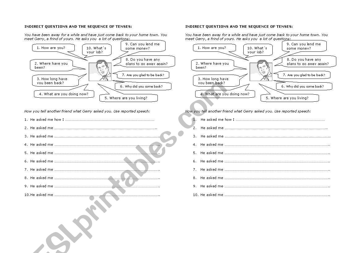 Indirect Questions And Reported Speech