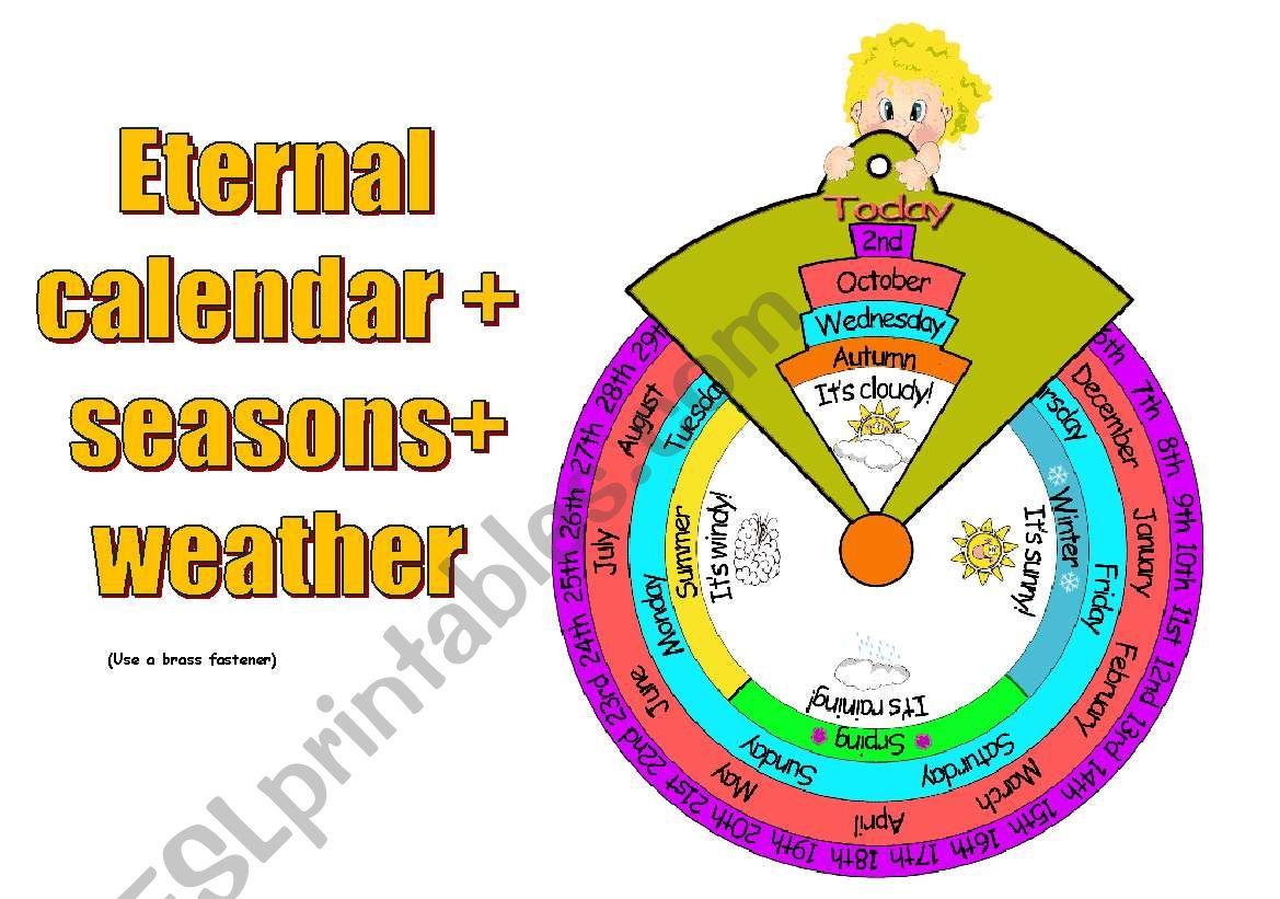 Eternal Calendar Seasons Weather