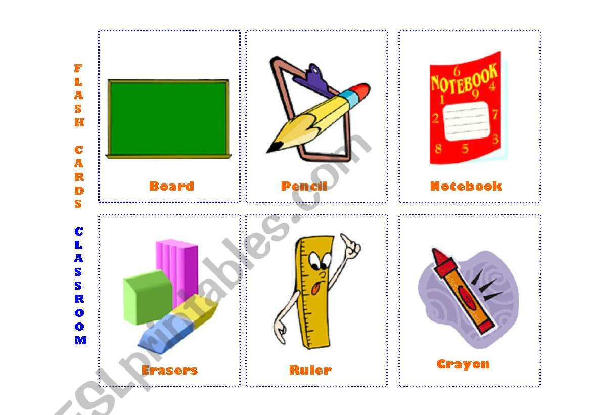 English Worksheets Flash Cards