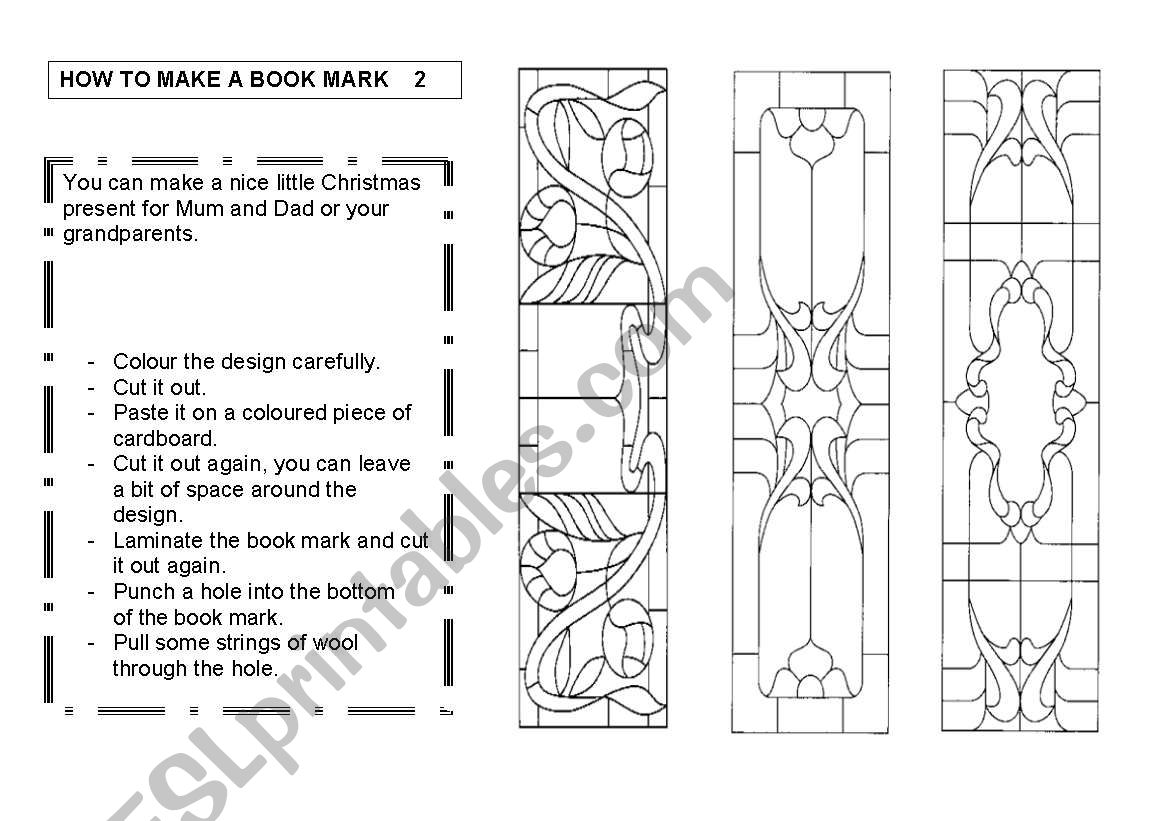 How To Make A Book Mark 2 3