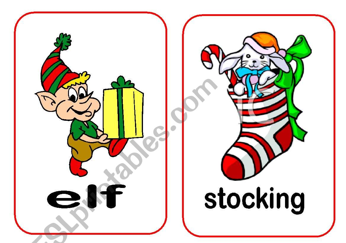 Christmas Flashcards 3