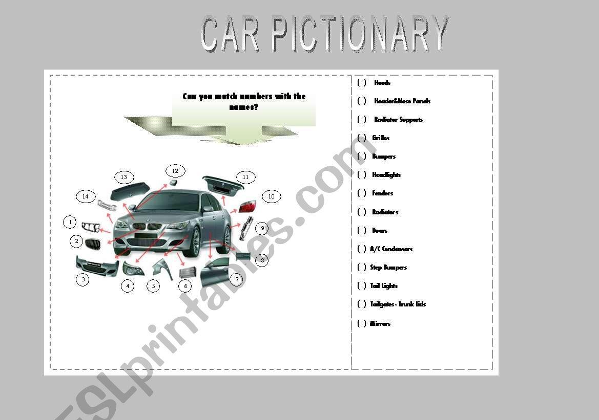Car Pictionary