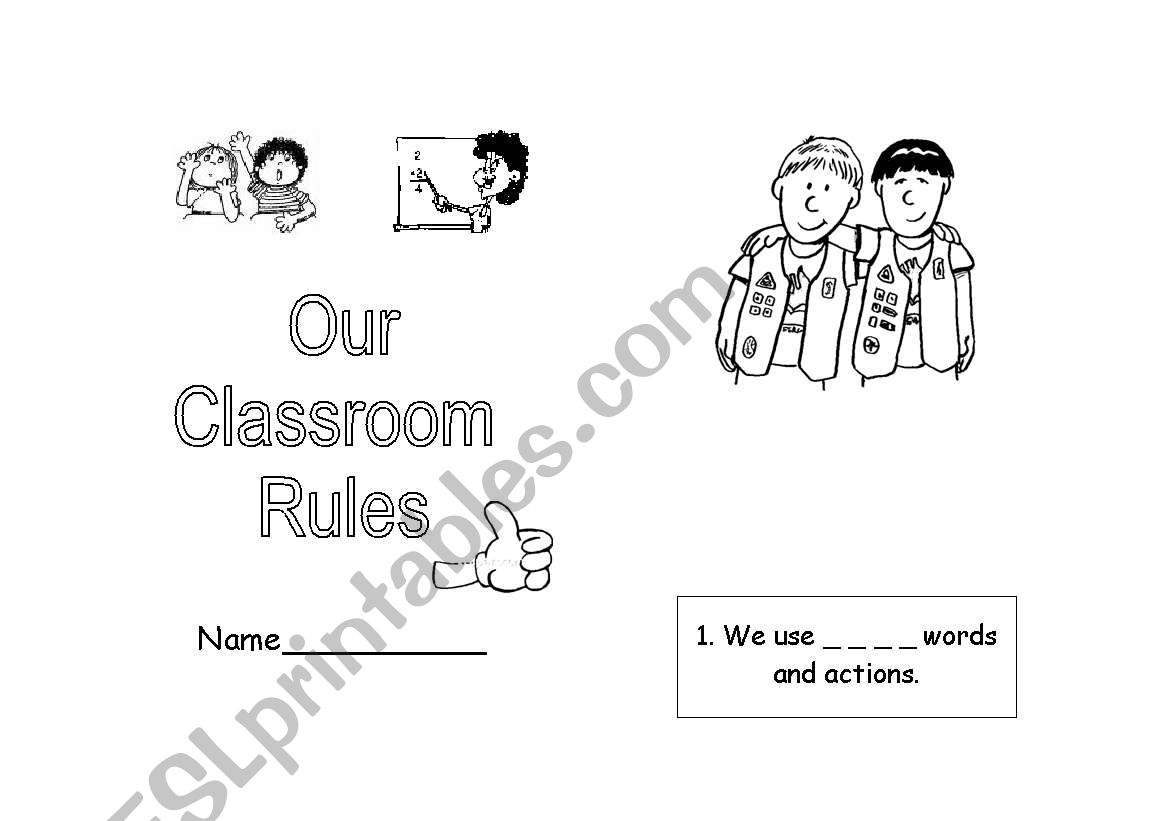 Classroom Rules Booklet Part 2 2 Editable