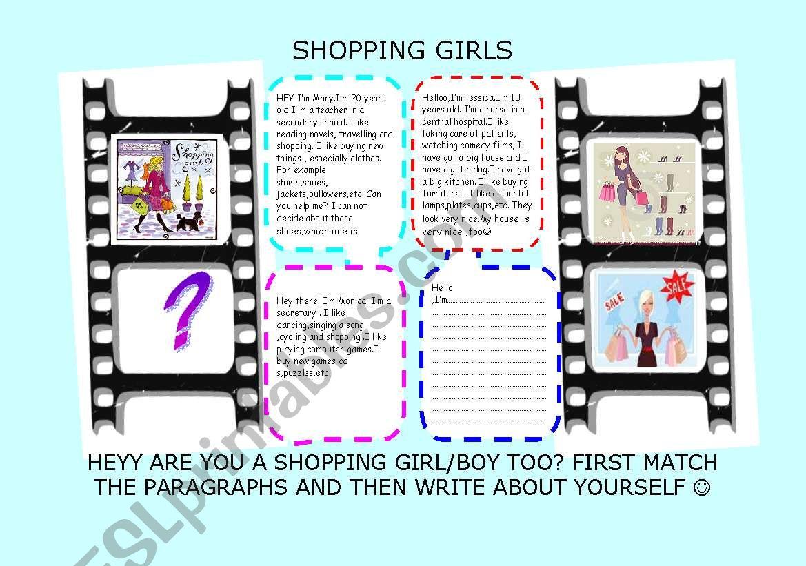 Shopping Girls Likes Dislikes