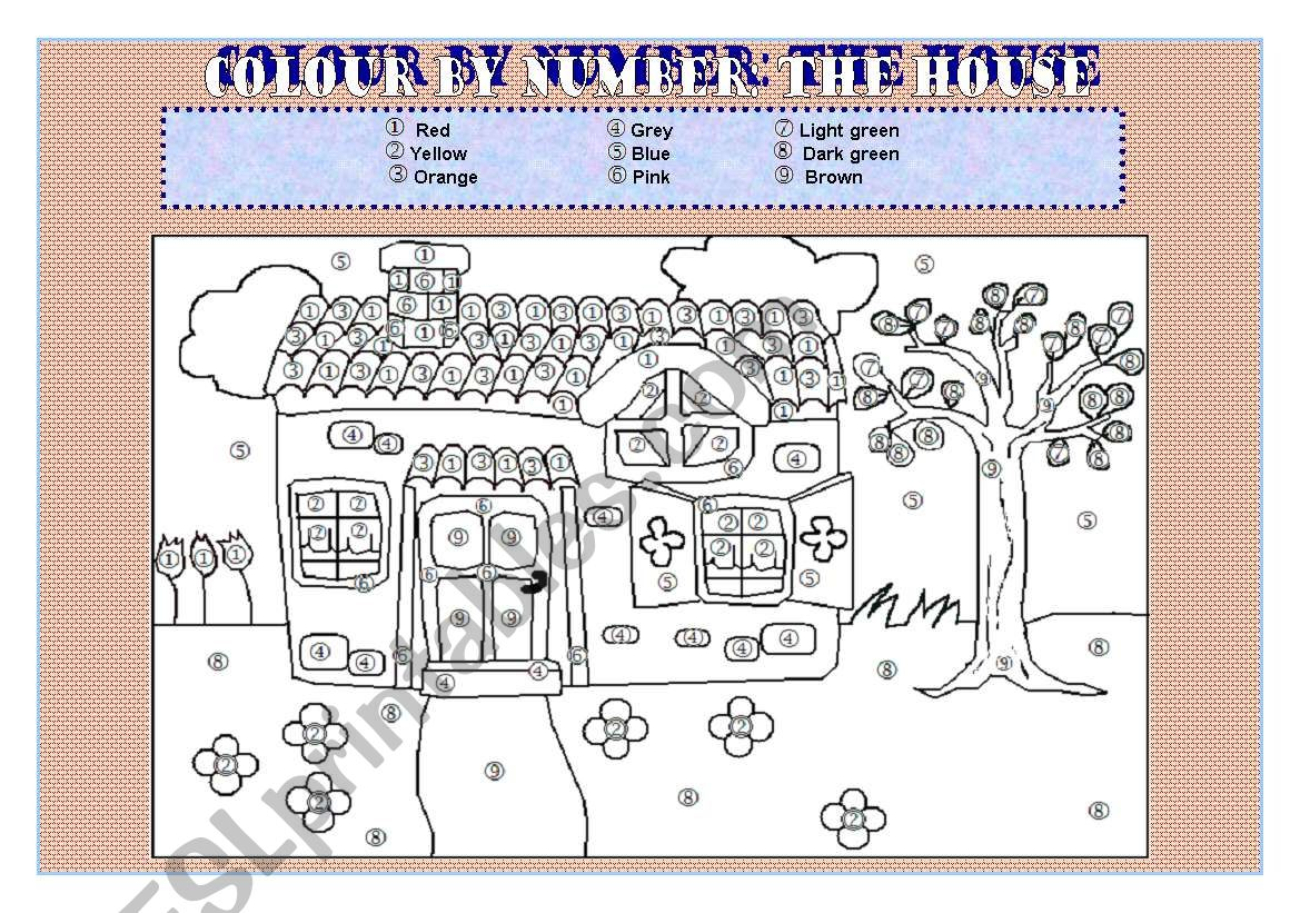 Colour By Number The House