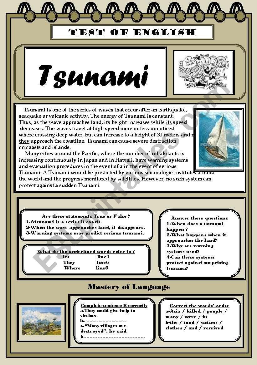 Tsunami Test Of English