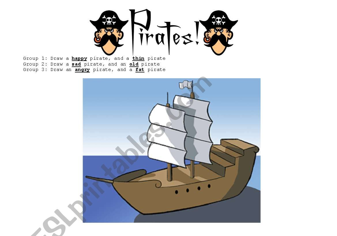 Group Activity Draw A Pirate