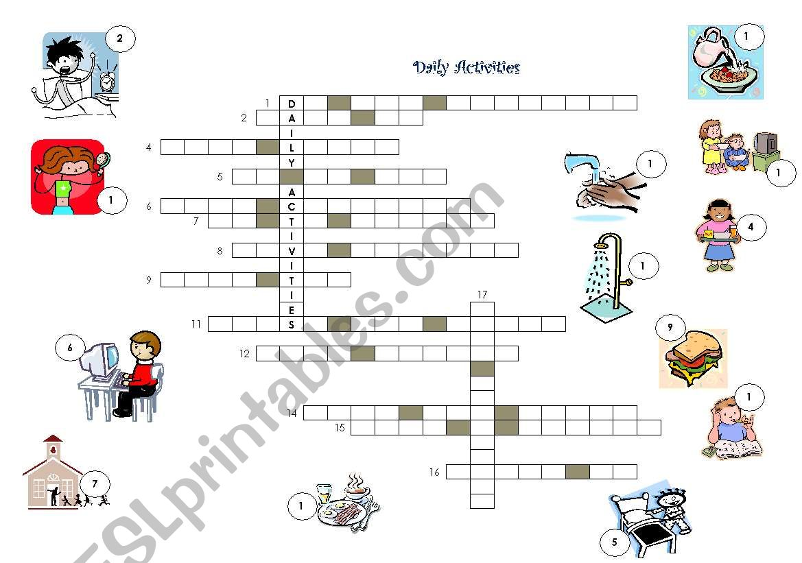 Daily Activities Crossword