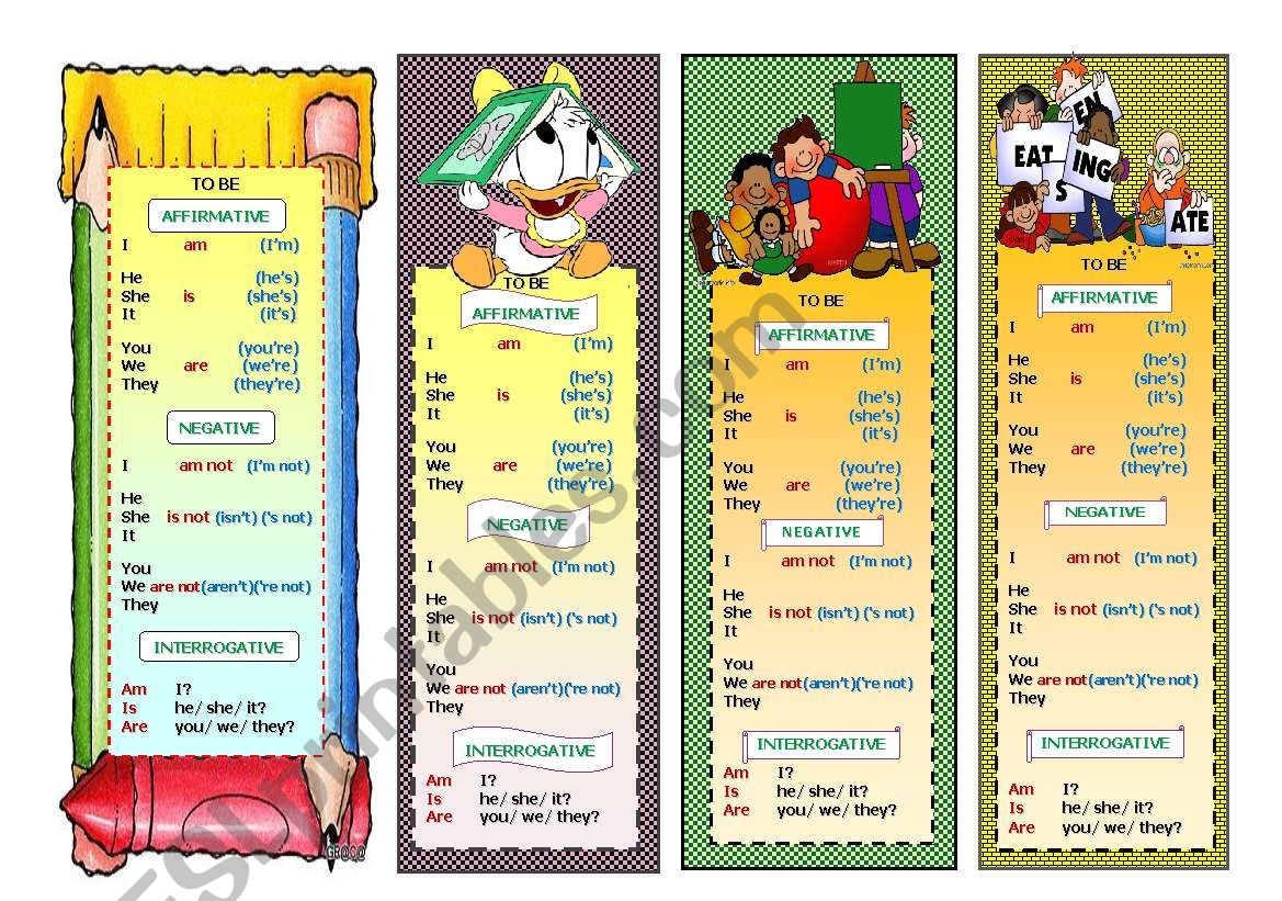 Bookmarks With Verb To Be