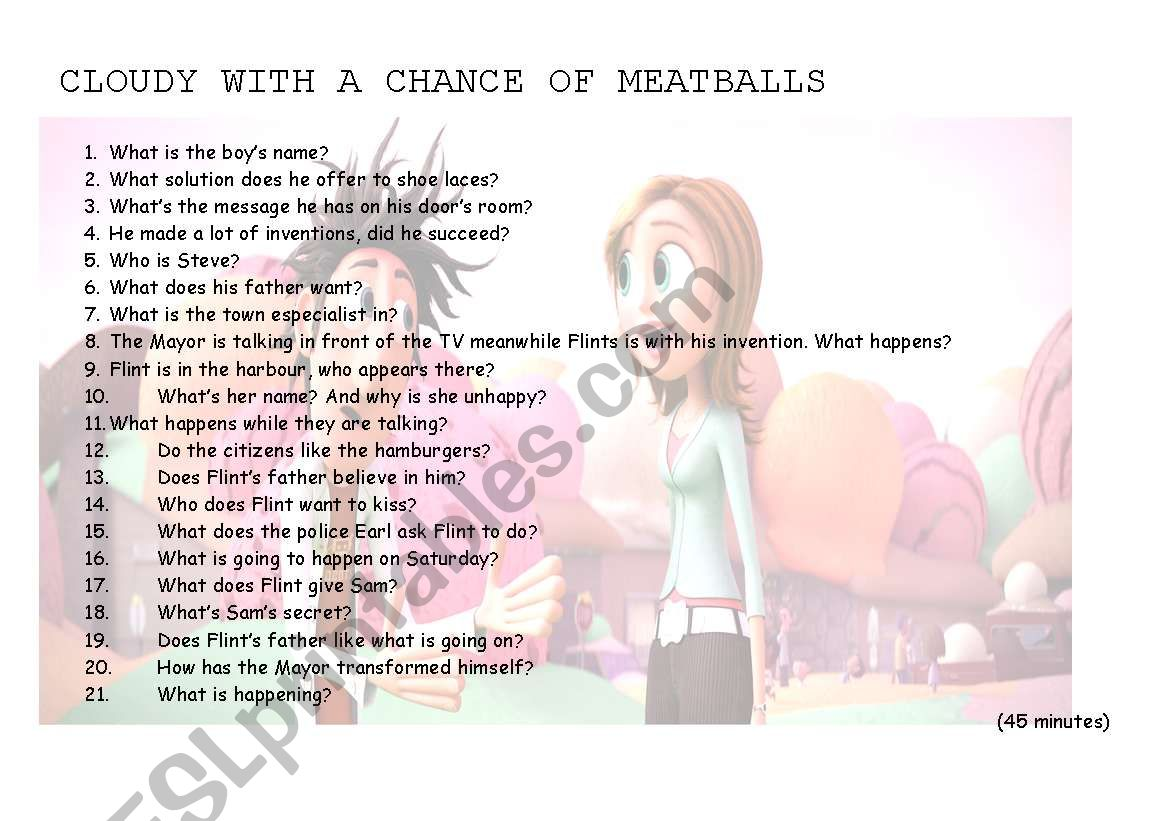 Cloudy With A Chance Of Meatballs Part 1