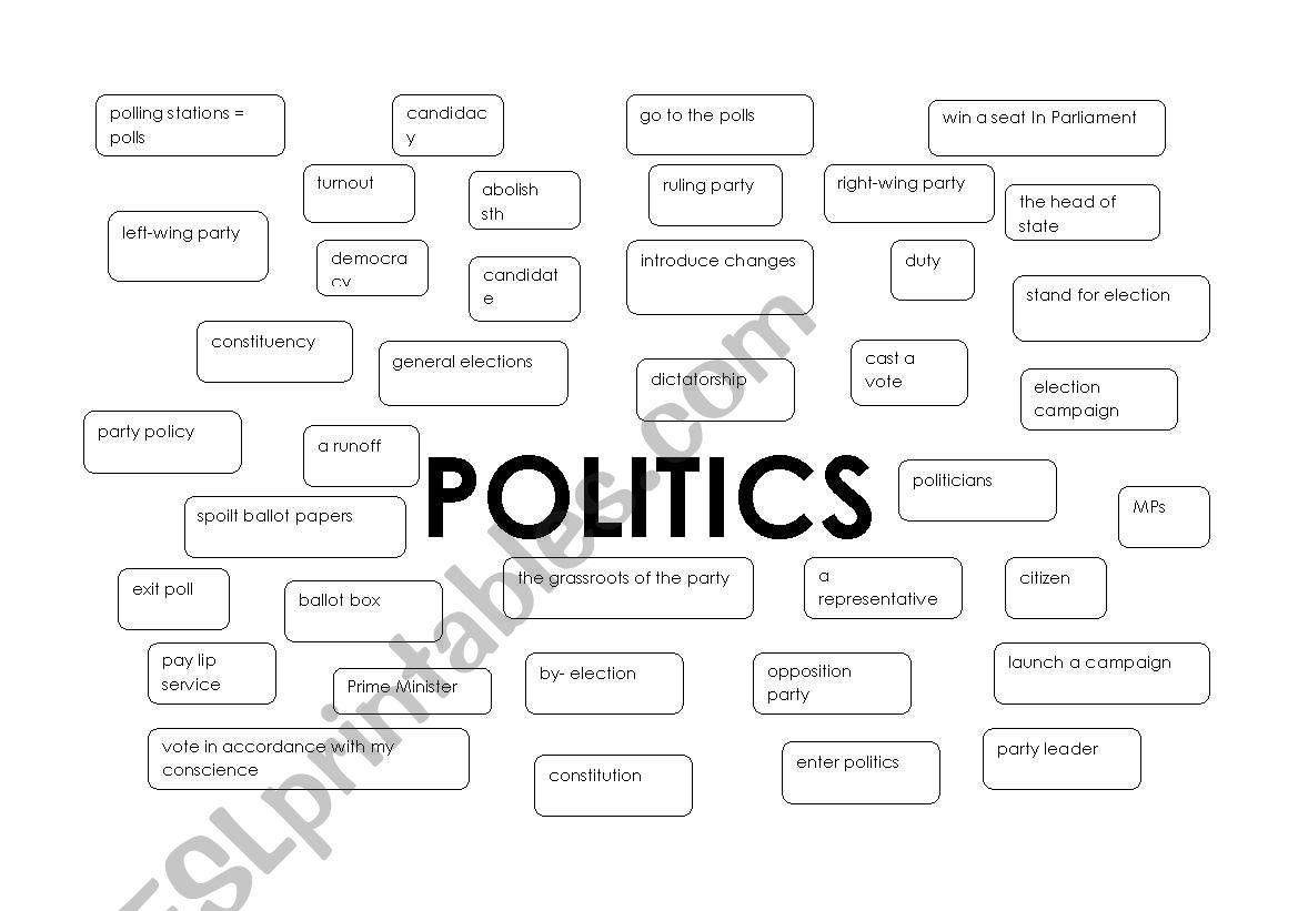 Politics Vocabulary Part 1