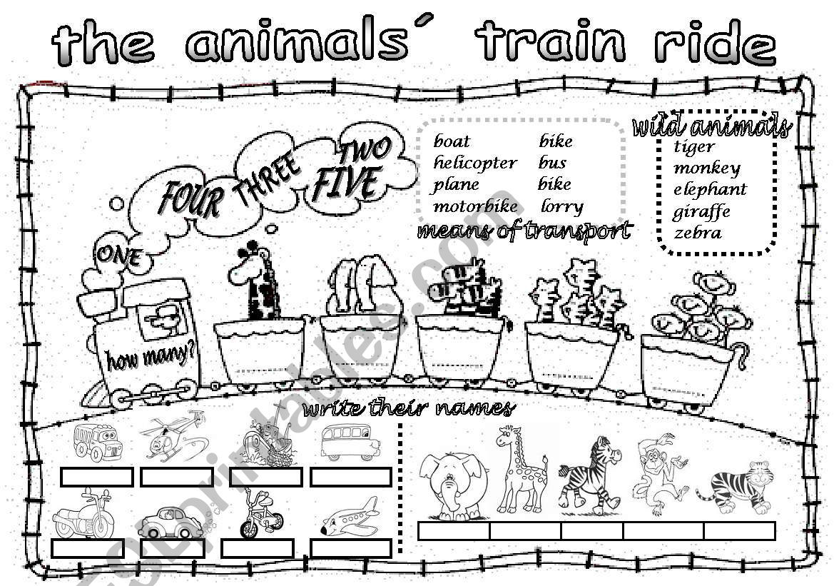 The Animals Train Ride