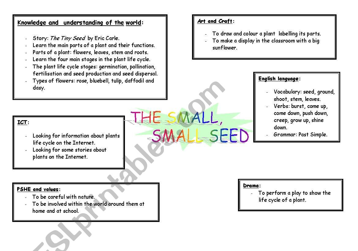 English Worksheets Great Lesson Plan About Life Cycle Of