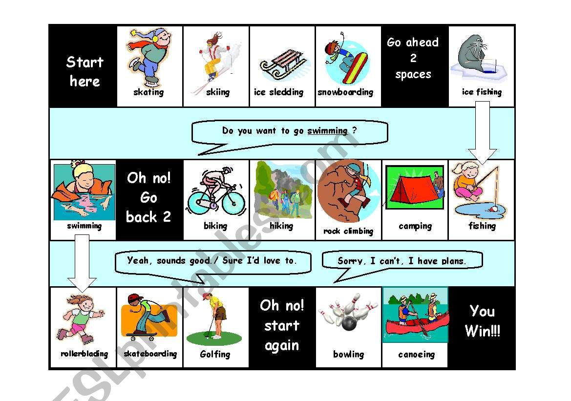 Do You Want To Go Ing Verb Drill Game