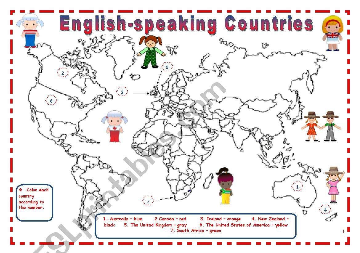 English Speaking Countries 8 Pages