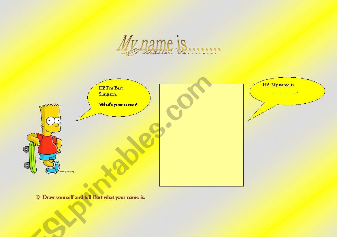 English Worksheets Bart Simpsons Dialogue