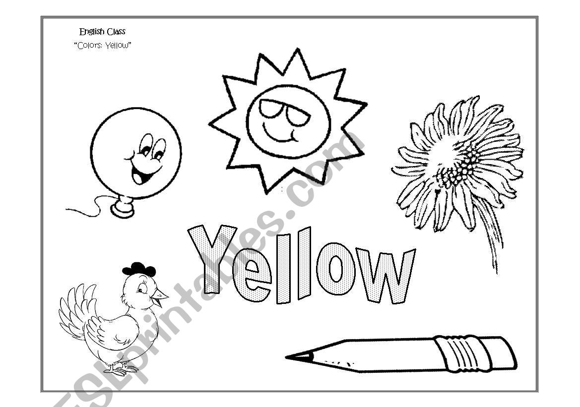 Yellow Colour Worksheet