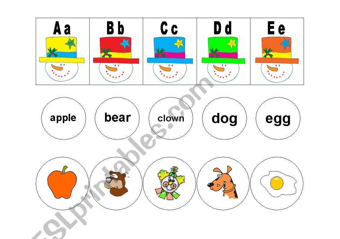 Snowman Alphabet Match Part 1