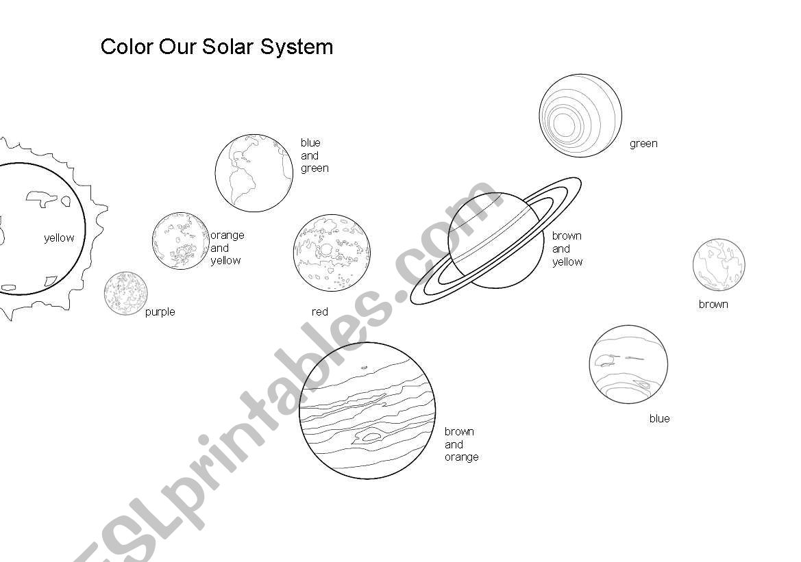 Color The Solar System