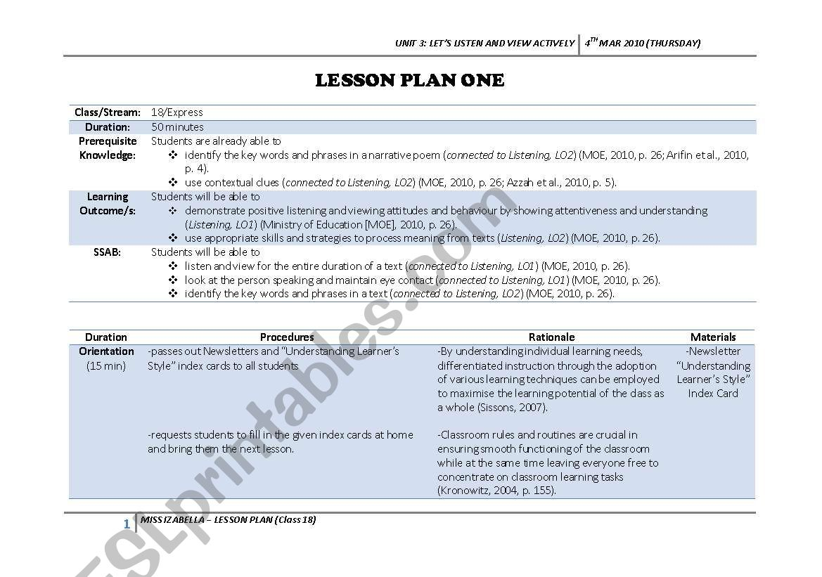 Spot The Difference Lesson Plan For Listening