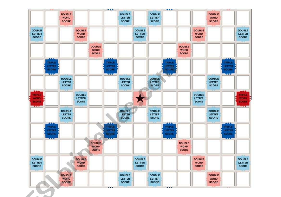 Printable Scrabble Board