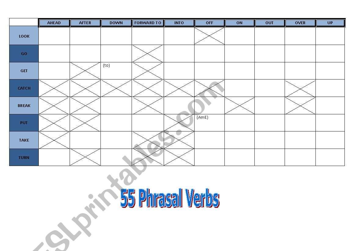 55 Phrasal Verbs