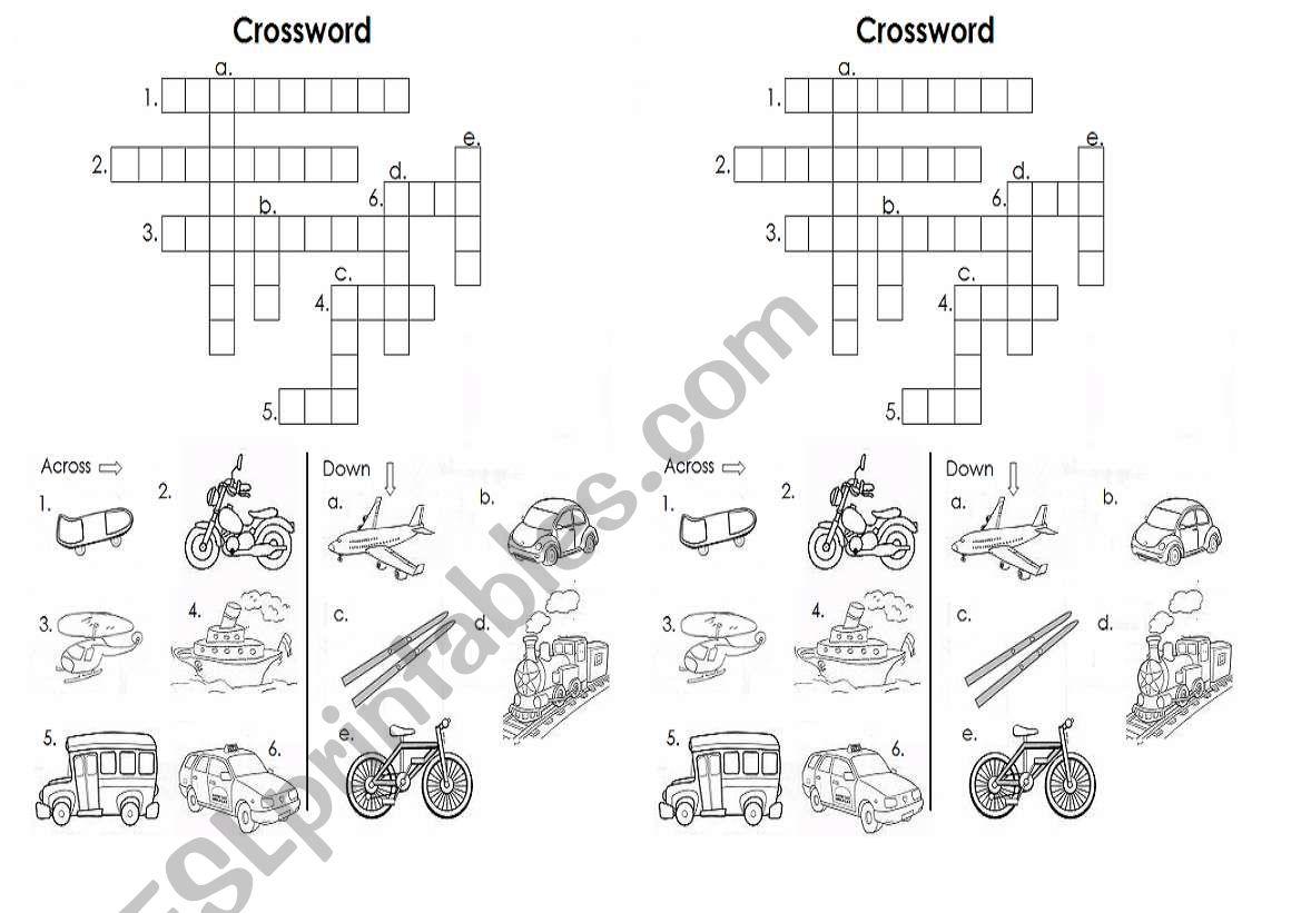 Crossword Transportation