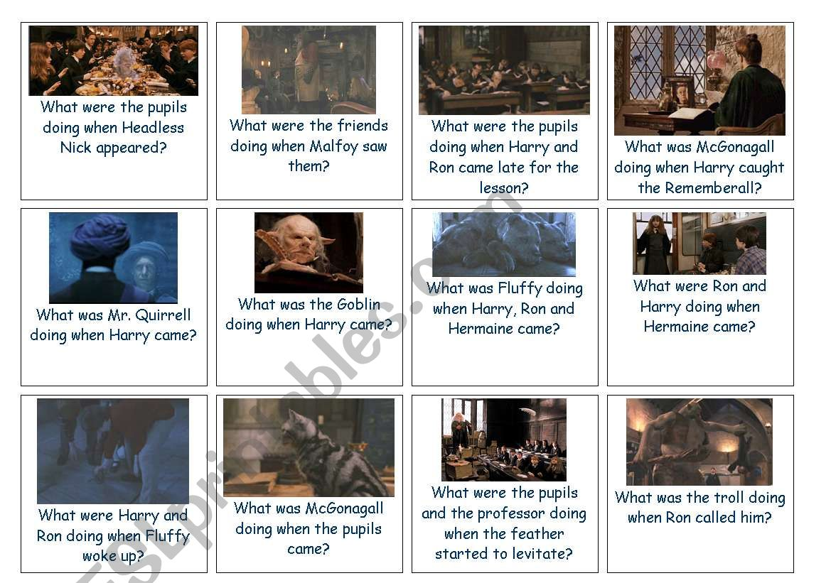 Board Game Harry Potter And The Philosopher S Stone Cards Part5 Out Of5