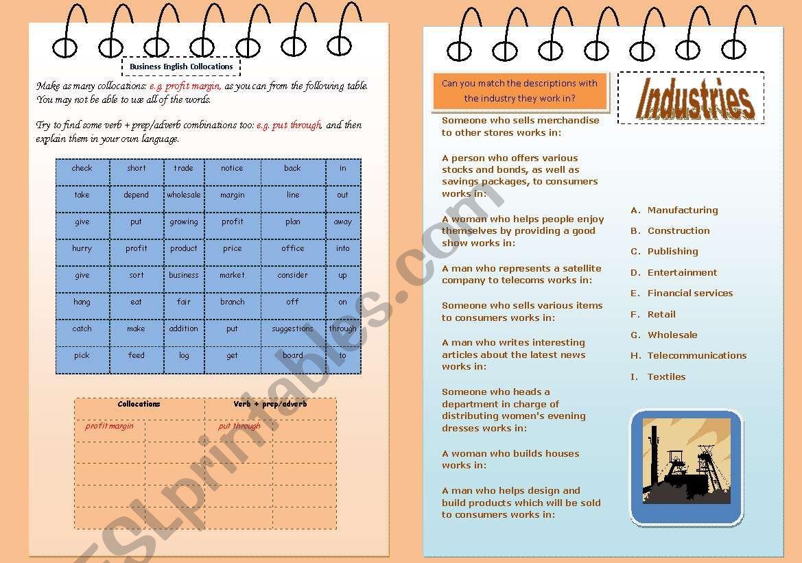 Esl Worksheet Business
