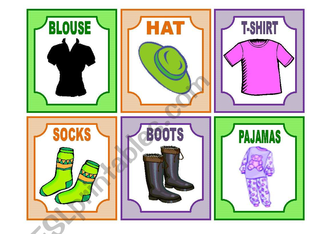 20 Clothes Flashcards