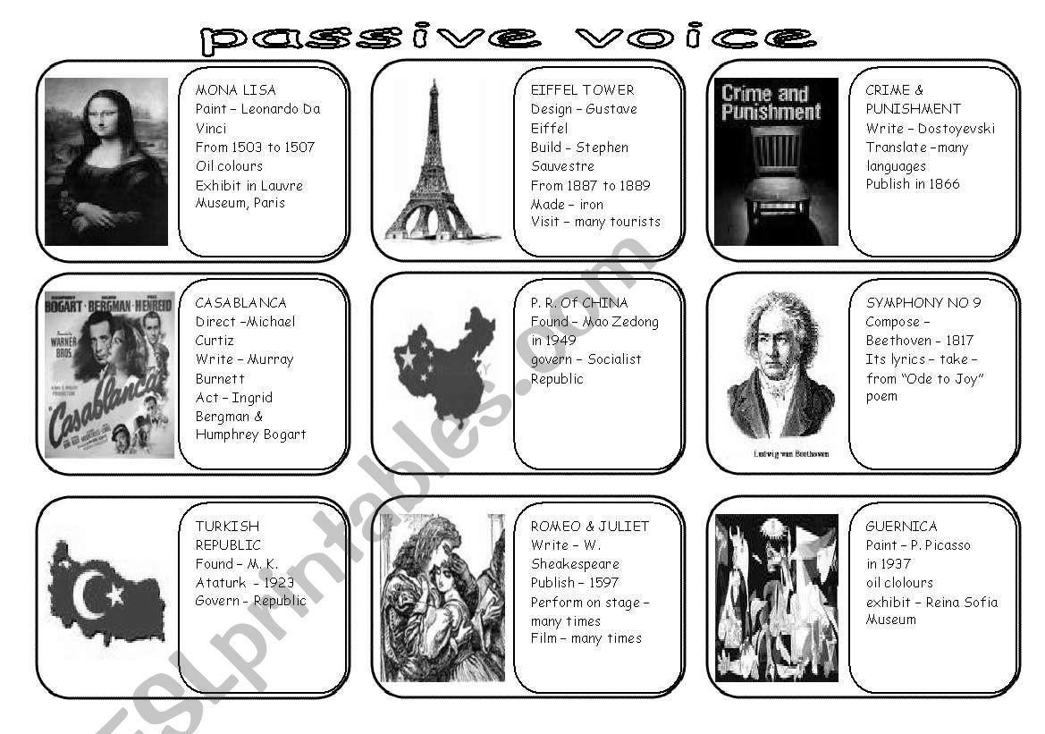 Passive Voice Speaking Cards