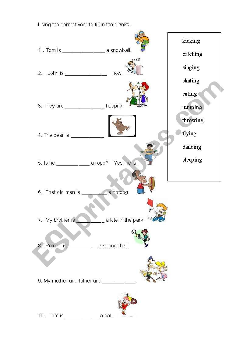Image Result For Worksheets Present