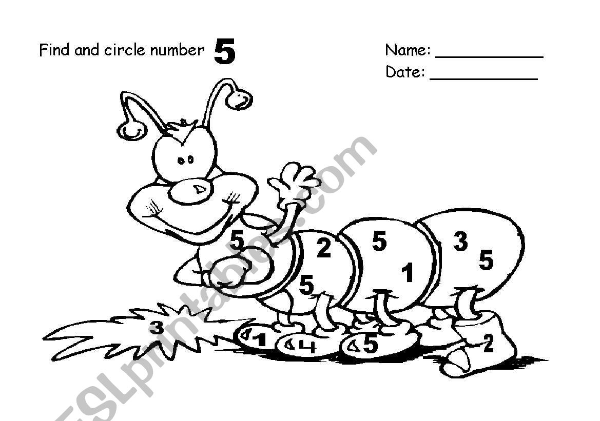 Find And Circle Number 5
