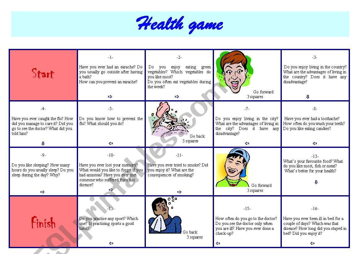 Esl Health Worksheets